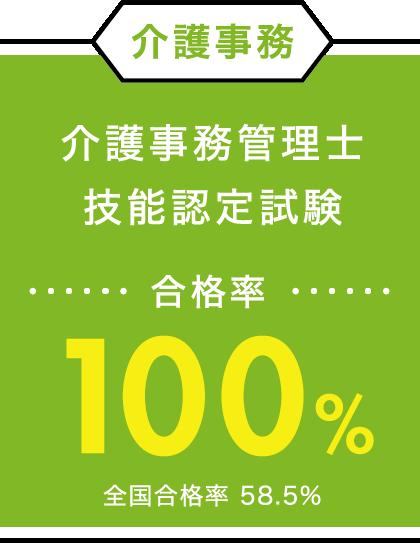 介護事務管理士技能認定試験 合格率100%