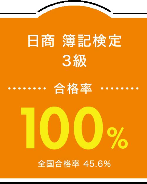 日商 簿記検定3級 合格率100%