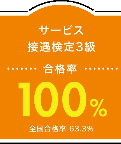 サービス接遇検定3級 合格率100%