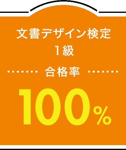 文書デザイン検定 1級 合格率100%